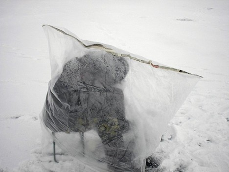 Зимняя палатка своими руками из полиэтилена